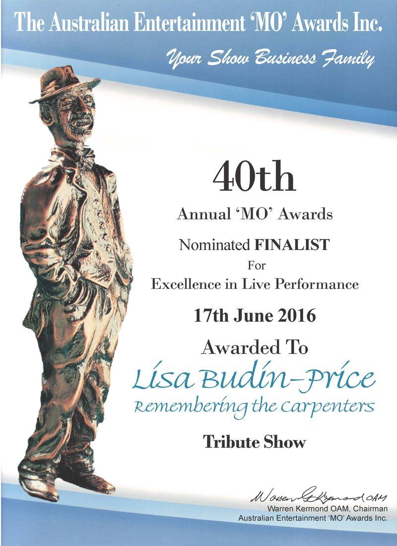 Lisa Budin Mo Award